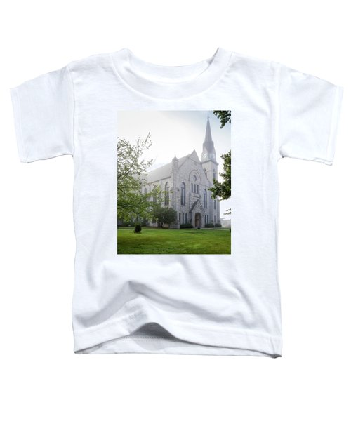 Stone Chapel In Fog Toddler T-Shirt