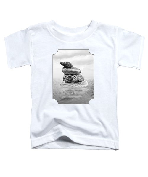 Stones In Water Black And White Toddler T-Shirt
