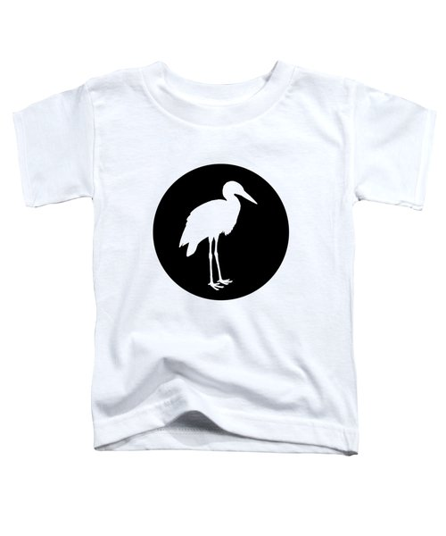 Stork Toddler T-Shirt by Mordax Furittus