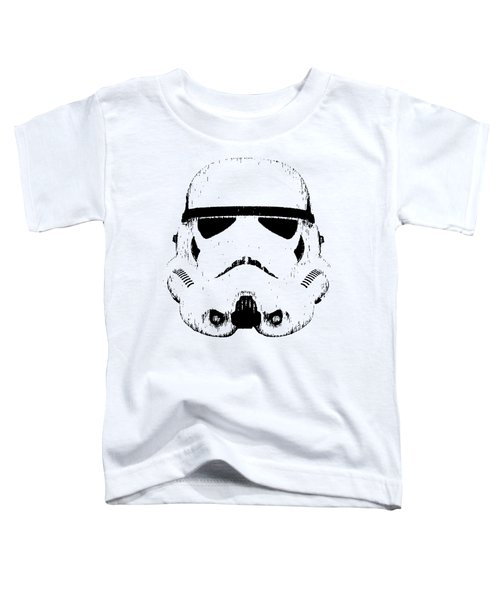Toddler T-Shirt featuring the digital art Stormtrooper Helmet Star Wars Tee Black Ink by Edward Fielding