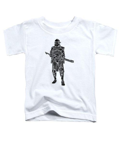 Stormtrooper Samurai - Star Wars Art - Black Toddler T-Shirt