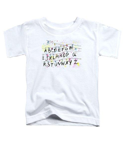 Stranger Things Alphabet Wall Christmas Lights Toddler T-Shirt