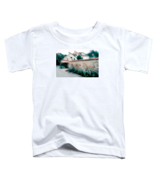 Street In Giverny, France Toddler T-Shirt by Dubi Roman