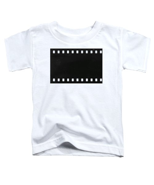 Strip Of Old Celluloid Film With Dust And Scratches Toddler T-Shirt
