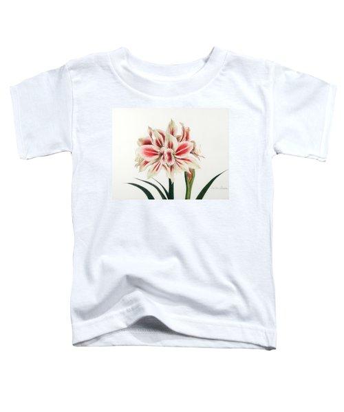 Striped Amarylis Toddler T-Shirt