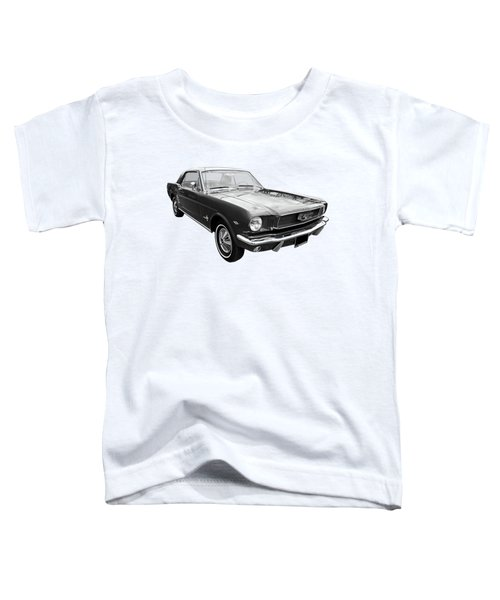 Stunning 1966 Mustang In Black And White Toddler T-Shirt