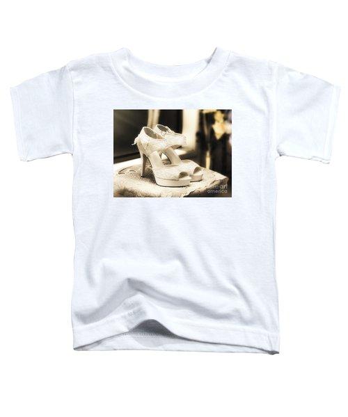 Stylish And Elegant Bridal Shoes Toddler T-Shirt
