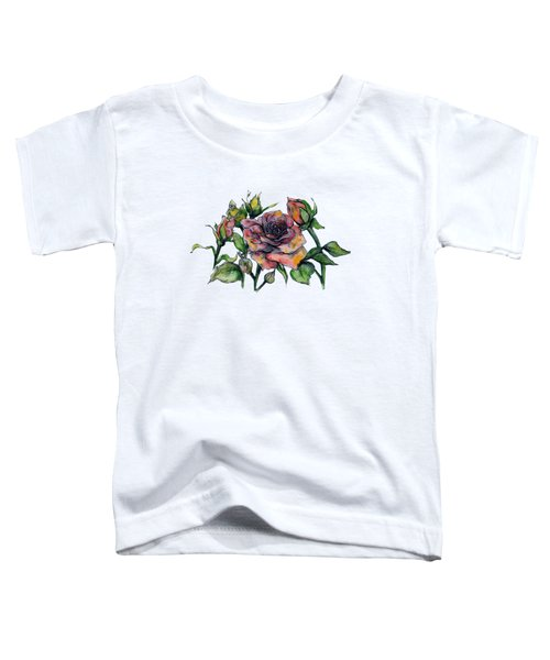 Stylized Roses Toddler T-Shirt