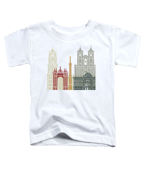 Sucre Skyline Poster Toddler T-Shirt by Pablo Romero