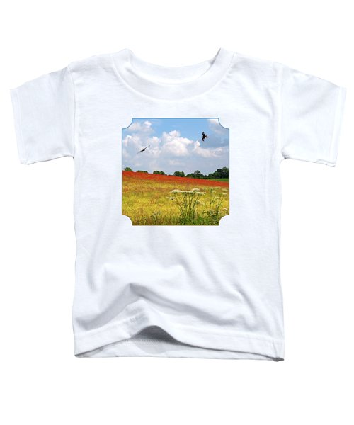 Summer Spectacular - Red Kites Over Poppy Fields - Square Toddler T-Shirt