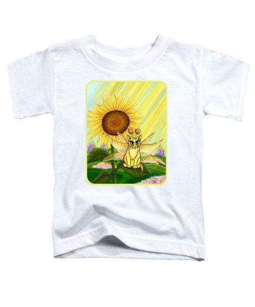 Summer Sunshine Fairy Cat Toddler T-Shirt