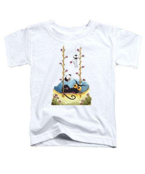 Summer Swing Toddler T-Shirt by Lucia Stewart