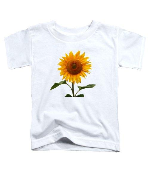 Sunflower On White Toddler T-Shirt