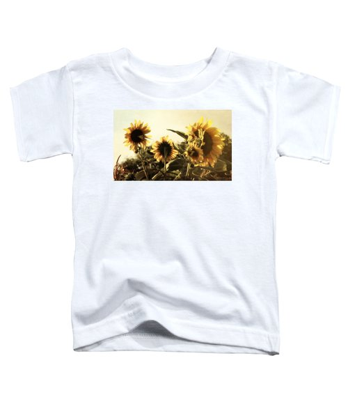 Sunflowers In Tone Toddler T-Shirt