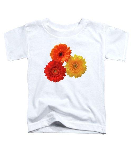 Sunny Gerbera On White Toddler T-Shirt