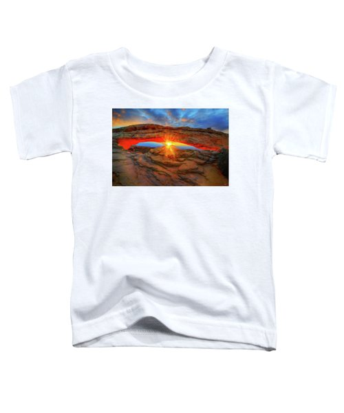 Toddler T-Shirt featuring the photograph Sunrise At Mesa Arch by Greg Norrell