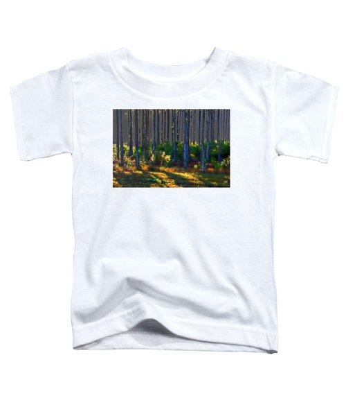 Sunrise On Tree Trunks Toddler T-Shirt