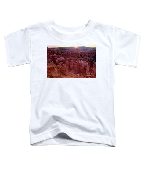 Sunrise Over The Hoodoos Bryce Canyon National Park Toddler T-Shirt
