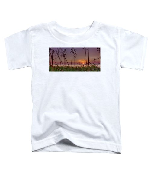 Sunrise Palm Blooms Toddler T-Shirt