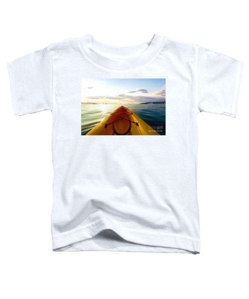Sunrise Seascape Kayak Adventure Toddler T-Shirt