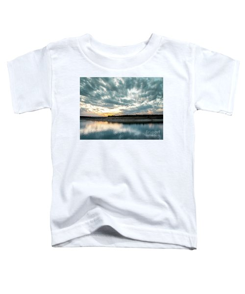 Sunset Behind Small Hill With Storm Clouds In The Sky Toddler T-Shirt