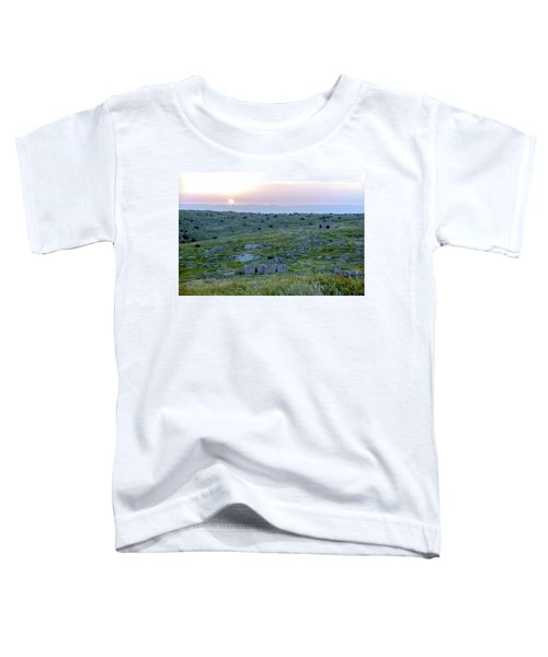 Sunset Over A 2000 Years Old Village Toddler T-Shirt by Dubi Roman