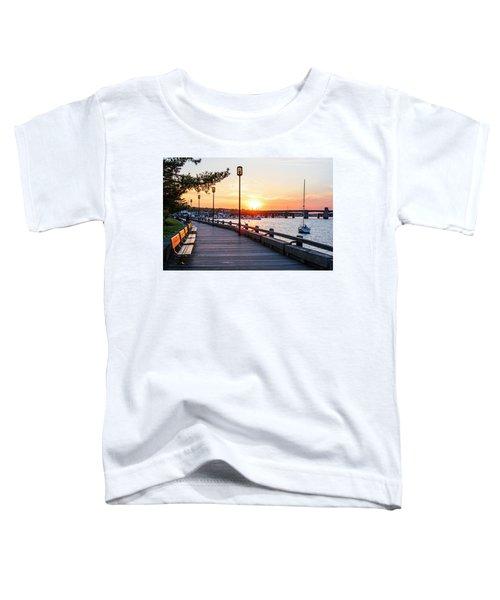 Sunset Over Newburyport Ma Merrimack River Newburyport Turnpike Toddler T-Shirt