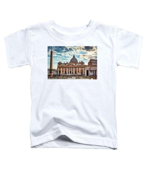 Sunset Over The Papal Basilica Of Saint Peter Toddler T-Shirt