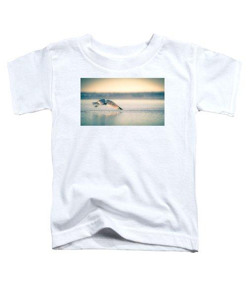 Sunset Seagull Takeoffs Toddler T-Shirt