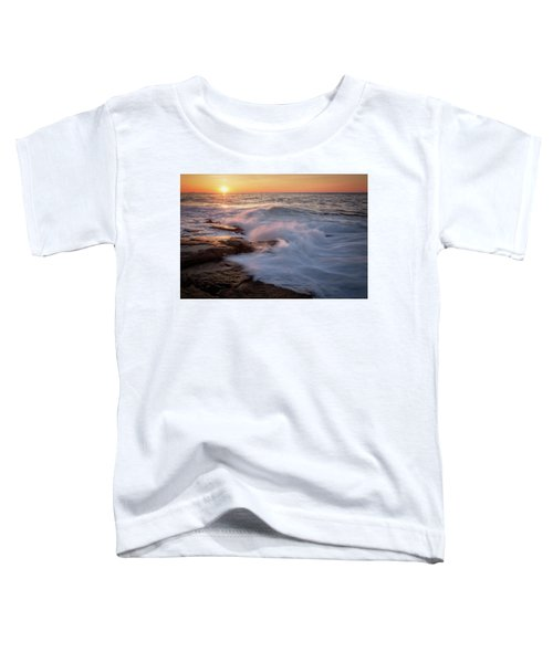 Sunset Waves Rockport Ma. Toddler T-Shirt
