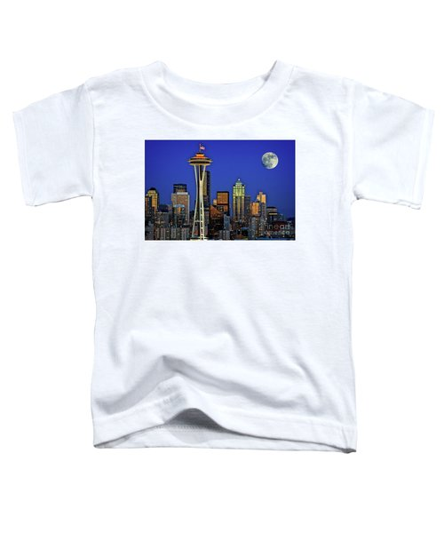 Super Moon Over Seattle Toddler T-Shirt