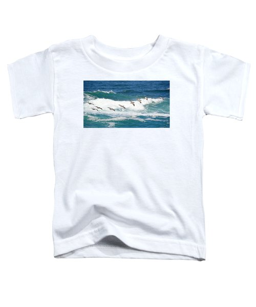 Surf And Pelicans Toddler T-Shirt