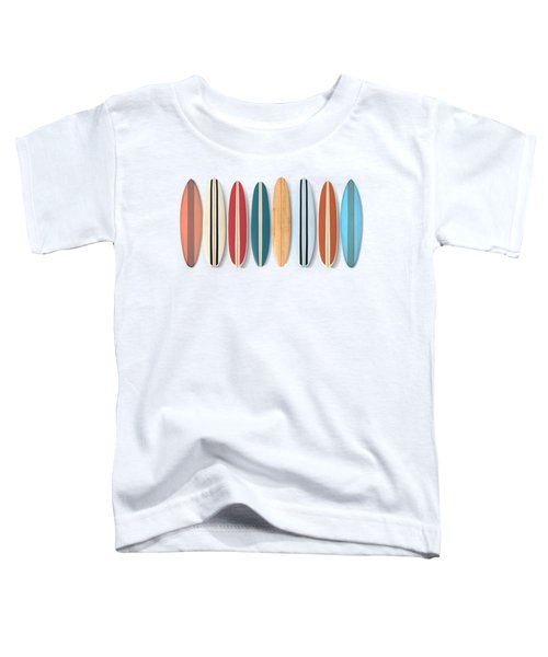 Surf Boards Row Toddler T-Shirt