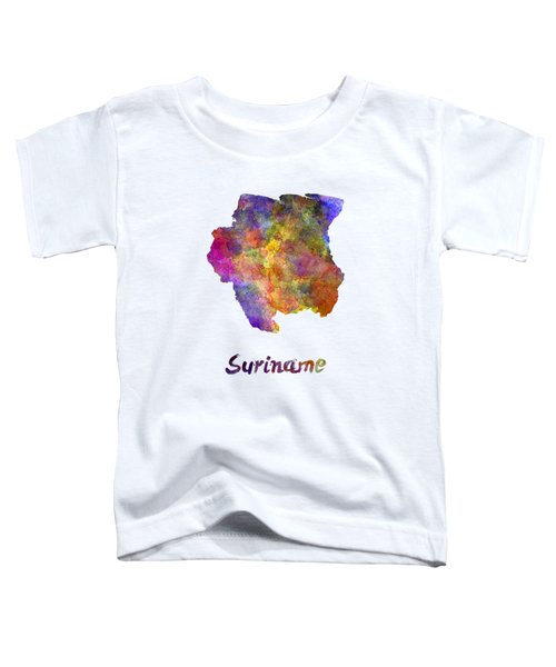 Suriname In Watercolor Toddler T-Shirt