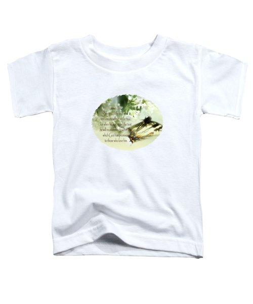 Swallowtail And Lilac Toddler T-Shirt by Anita Faye