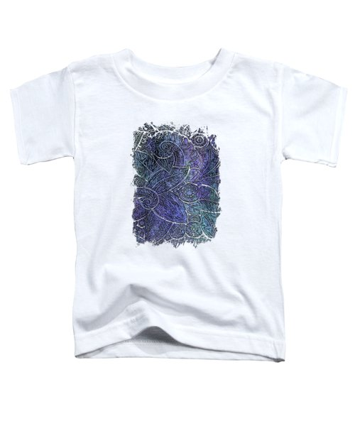 Swan Dance Berry Blues 3 Dimensional Toddler T-Shirt