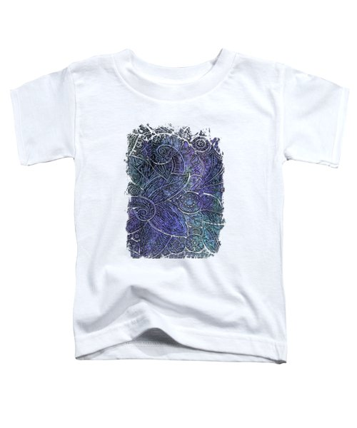Swan Dance Berry Blues 3 Dimensional Toddler T-Shirt