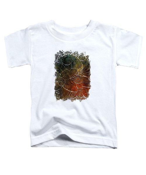 Swan Dance Earthy Rainbow 3 Dimensional Toddler T-Shirt