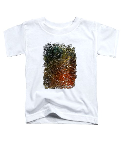 Swan Dance Earthy Rainbow 3 Dimensional Toddler T-Shirt