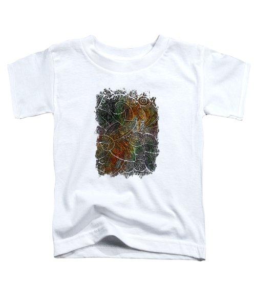 Swan Dance Muted Rainbow 3 Dimensional Toddler T-Shirt