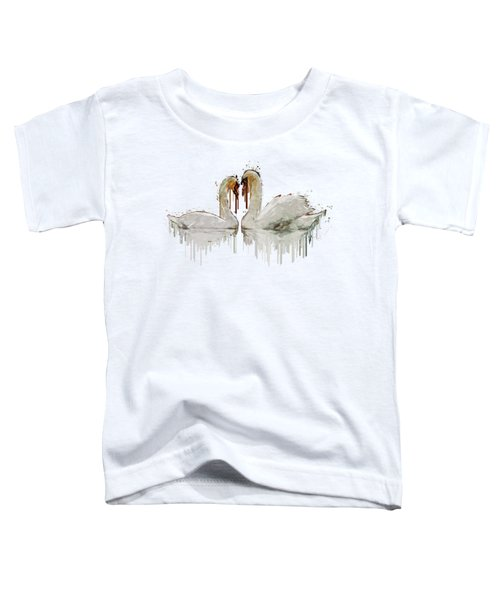 Swan Love Acrylic Painting Toddler T-Shirt