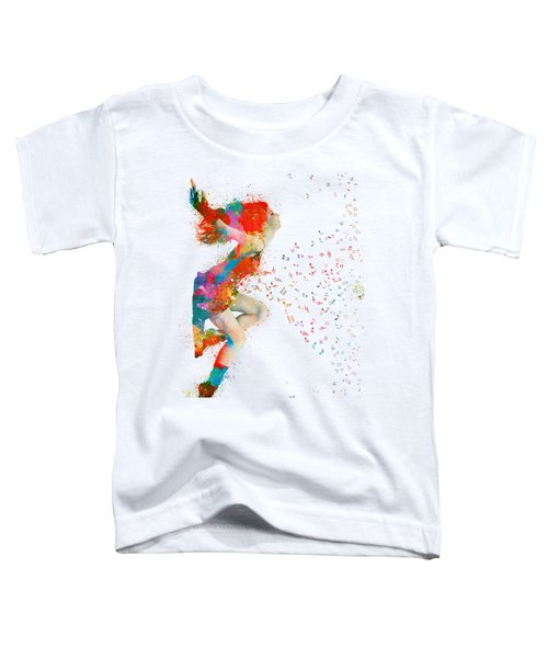 Sweet Jenny Bursting With Music Toddler T-Shirt by Nikki Smith