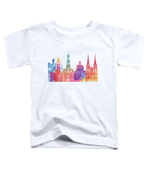 Sydney  Landmarks Watercolor Poster Toddler T-Shirt