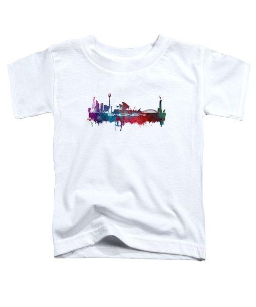 Sydney Skyline City Blue Toddler T-Shirt by Justyna JBJart