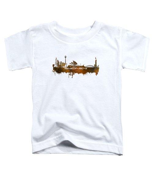 Sydney Skyline City Brown Toddler T-Shirt by Justyna JBJart