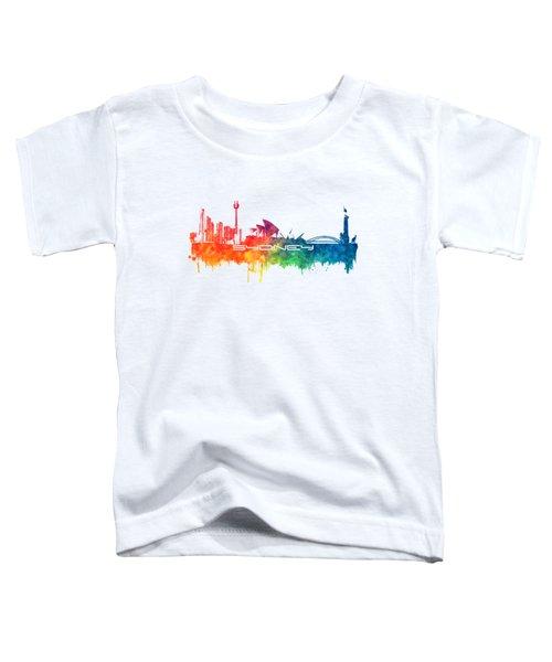 Sydney Skyline City Color Toddler T-Shirt by Justyna JBJart