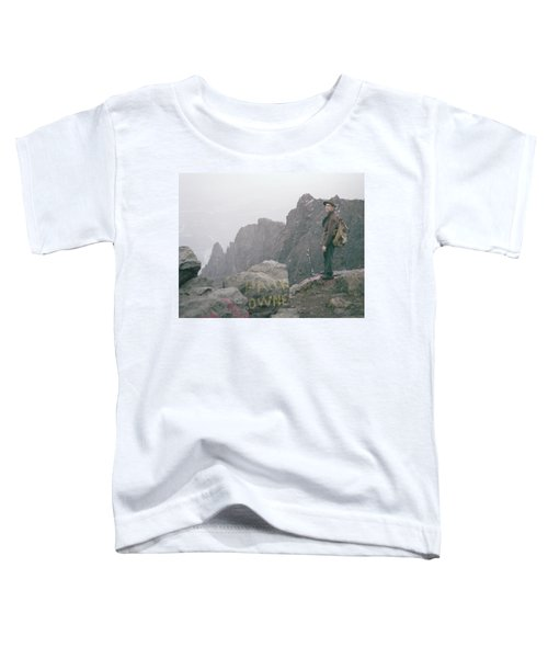 T-04701 Fred Beckey On Mt. Si 1958  Toddler T-Shirt