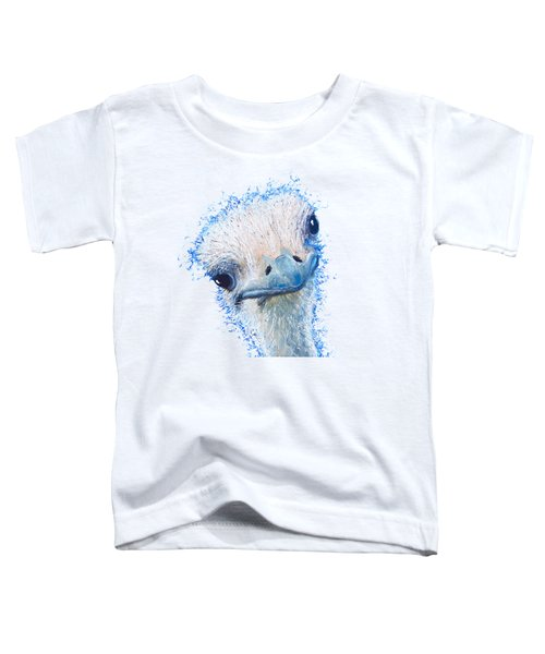 T-shirt With Emu Design Toddler T-Shirt by Jan Matson