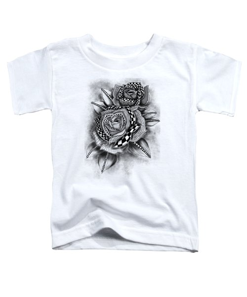 Tattoo Rose Greyscale Toddler T-Shirt
