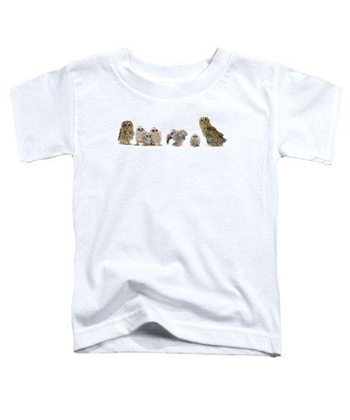 Tawny Owl Family Toddler T-Shirt
